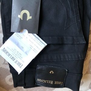 True Religion jeans. Black. Lightly worn. Size 28